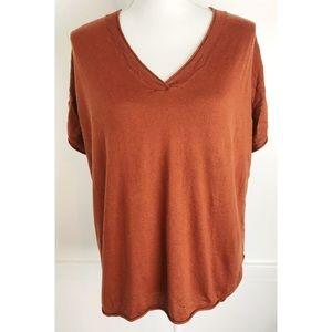 Shae • Burnt Orange Silk Cashmere Sweater